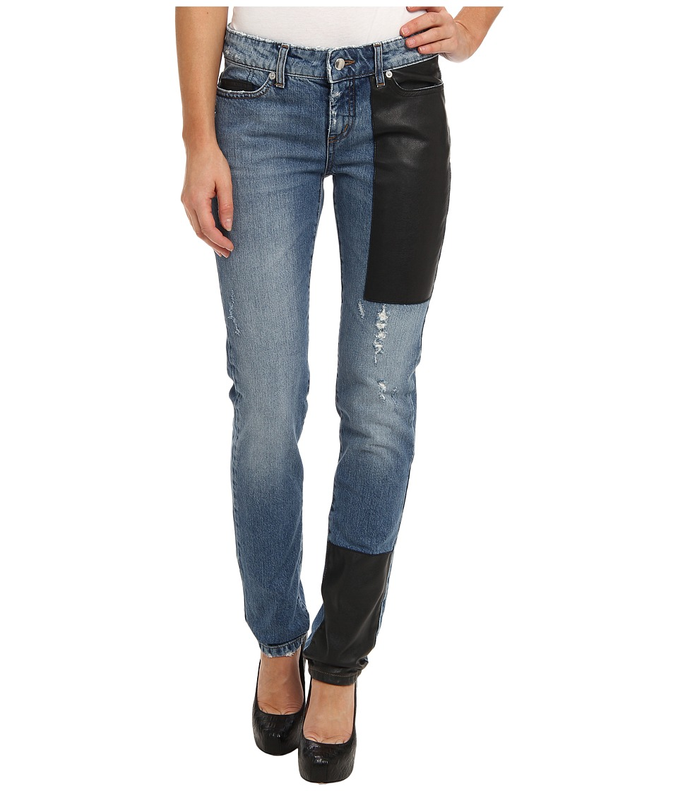 McQ - Hybrid Low Waist Skinny Jeans (Washed Indigo) Women