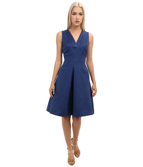 Rachel Roy - Fit and Flare Dress (Metal Blue) Women's Dress
