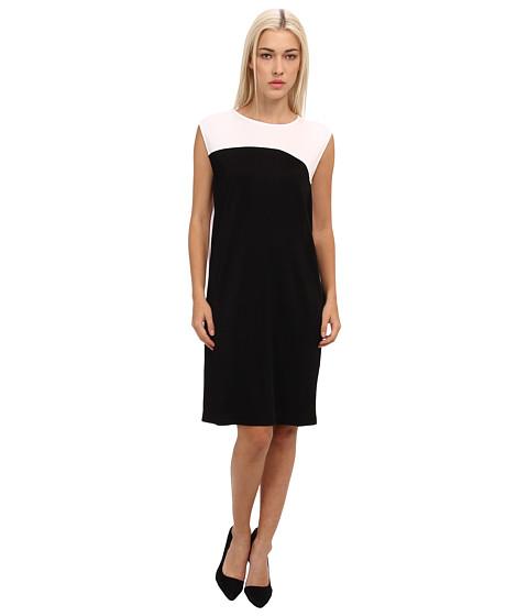 McQ - Solid Viscose Volume Dress (Black/White) Women's Dress
