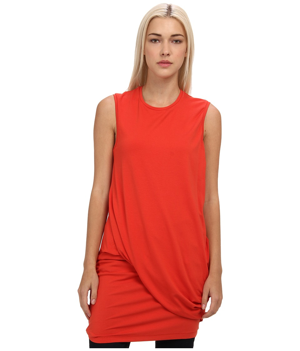 McQ - Solid Viscose Twisted Drape (Terra-Cotta) Women's Dress