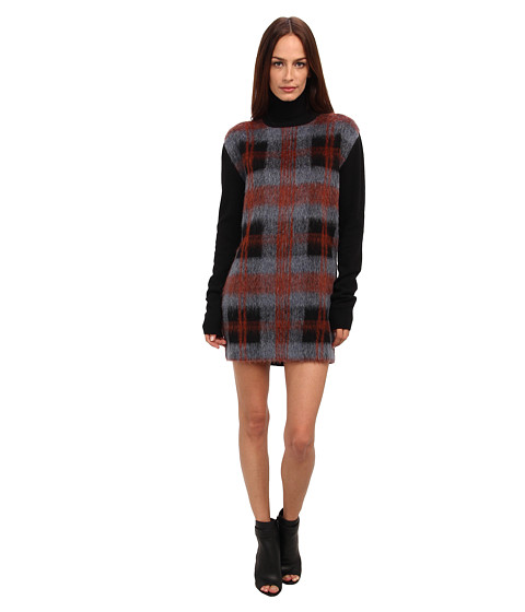 McQ - Needle Punch Roll Neck Dress (Black) Women's Dress