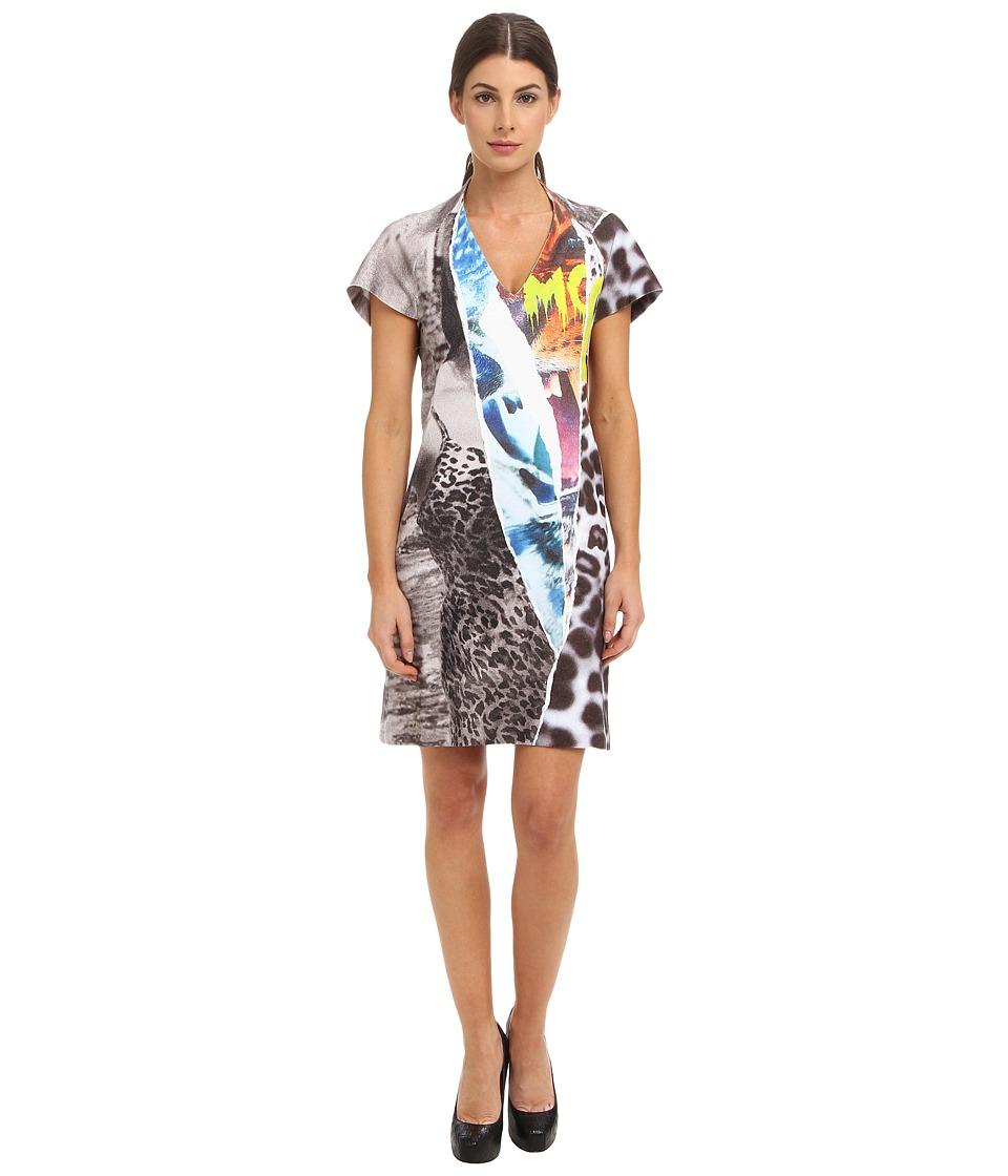 McQ - Ripped Print-I Raglan Dress (Grey Melange) Women's Dress
