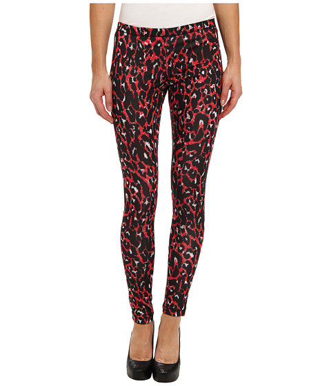 McQ - Allover Pixel Printed Leggings (Leopard Newred) Women's Clothing