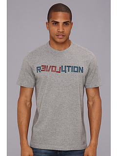 SALE! $11.99 - Save $14 on Life is good Revolution Tee (Heather Gray) Apparel - 53.88% OFF $26.00
