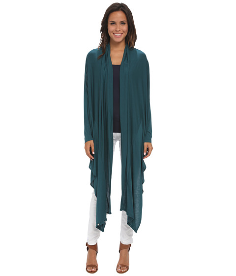 Tommy Bahama - Cliff Jersey Long Cardigan (Seaway) Women