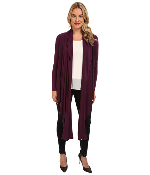 Tommy Bahama - Cliff Jersey Long Cardigan (Rum Berry) Women