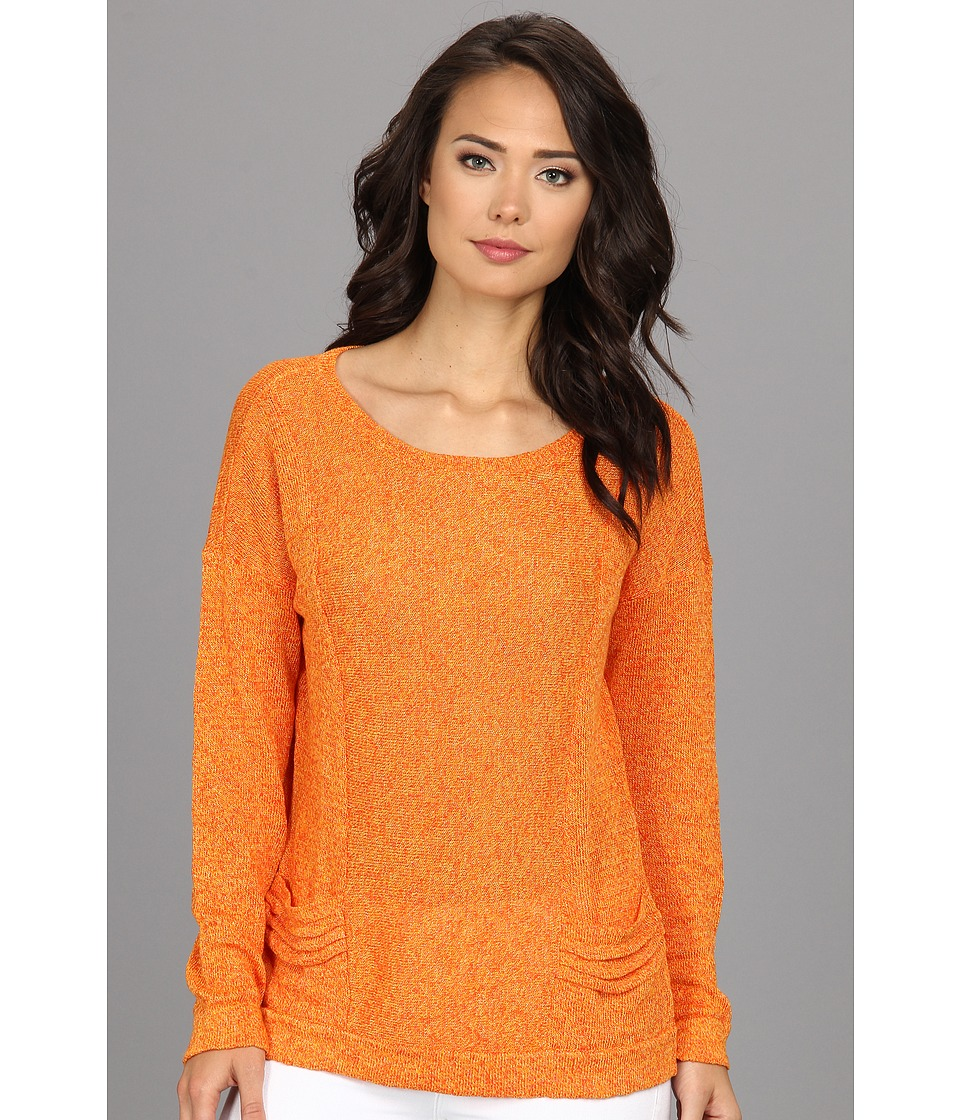Christin Michaels - Sarae Top (Satsuma) Women's Short Sleeve Pullover