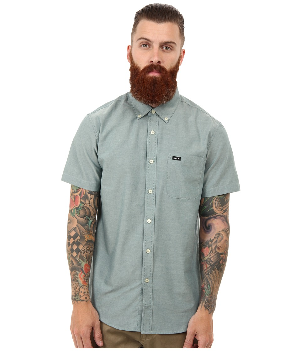 RVCA - That'll Do Oxford S/S (Pacific) Men's Short Sleeve Button Up