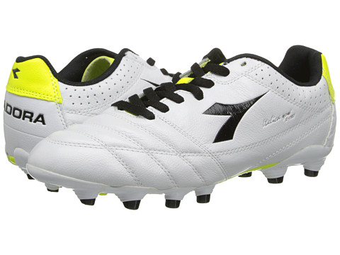 Diadora - Italica Goal K Pro (White/Black/Yellow) Men's Soccer Shoes