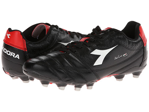 Diadora - Italica Goal K Pro (White/Black/Red) Men's Soccer Shoes
