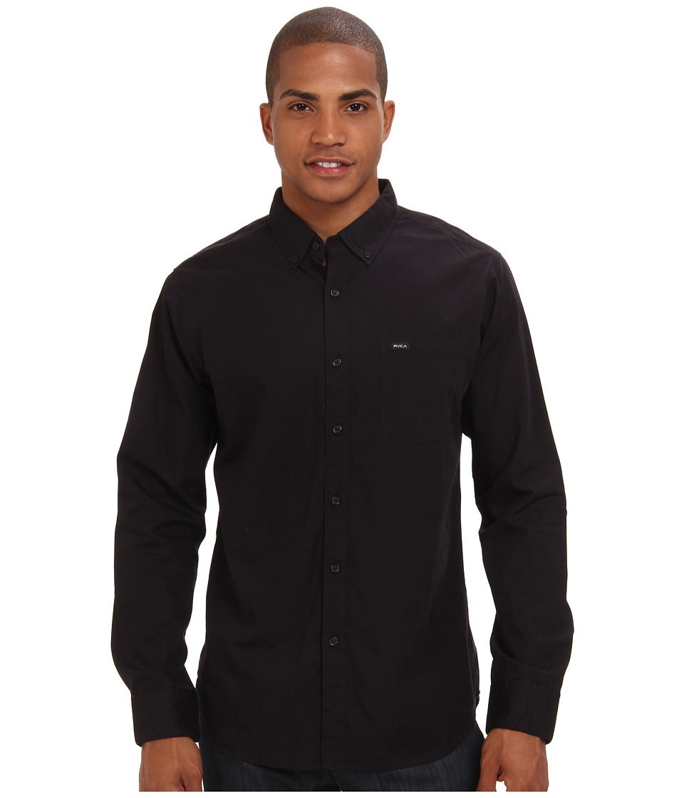 RVCA - Revival L/S (Black) Men's Long Sleeve Button Up