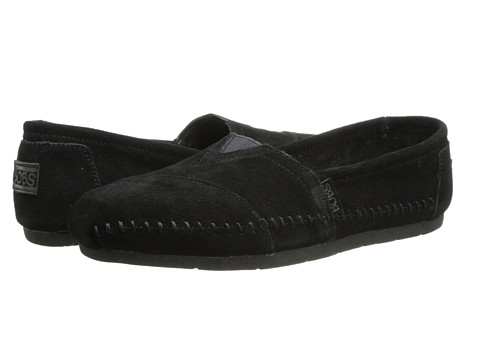 BOBS from SKECHERS - Luxe Bobs (Black) Women's Slip on Shoes