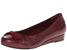 VIONIC with Orthaheel Technology Lydia Low Wedge Pump (Merlot Croc)