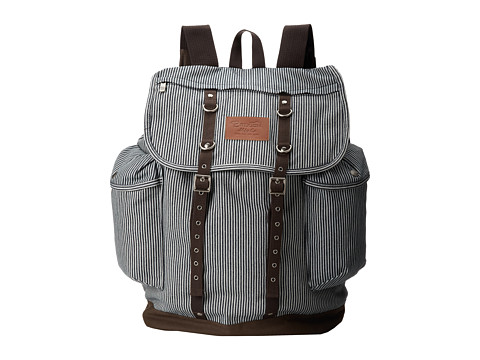 Brixton - Canyon Bag (Navy Stripe) Backpack Bags