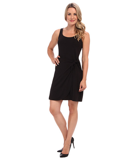 Tommy Bahama - Tambour Faux Wrap Tie Dress (Black) Women