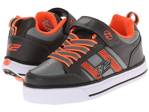 Heelys - Bolt 2.0 (Little Kid/Big Kid/Men's) (Grey/Orange) Boys Shoes