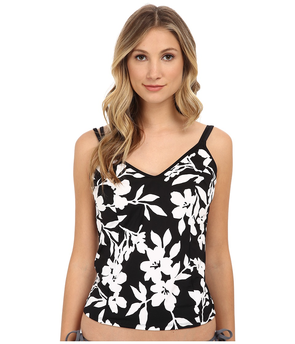 Miraclesuit - Woodland Garden Malibu Top (Black/White) Women's Swimwear