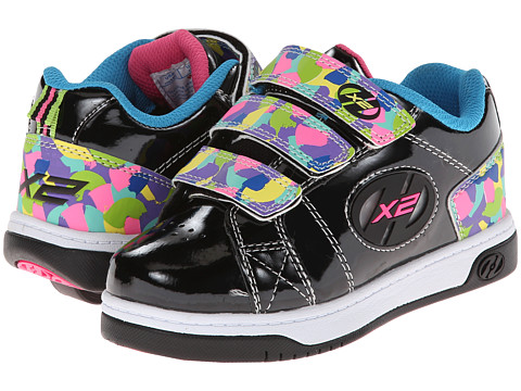 Heelys - Speed 2.0 (Little Kid/Big Kid/Women's) (Black/Multi Camo) Girls Shoes