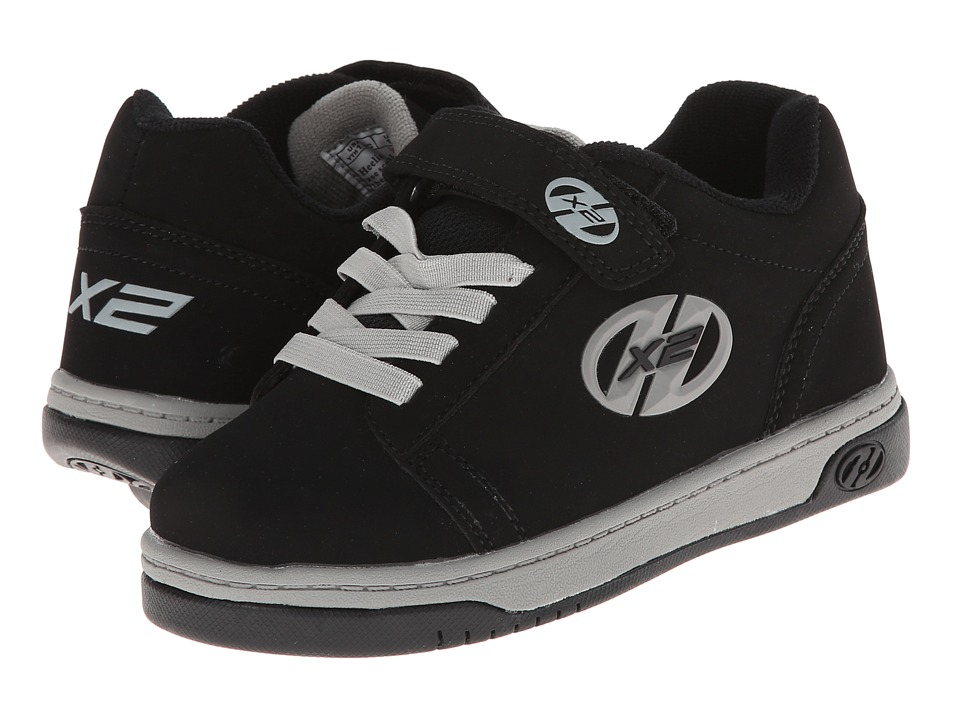 Heelys - Dual Up (Little Kid/Big Kid/Adult) (Black/Grey) Boys Shoes