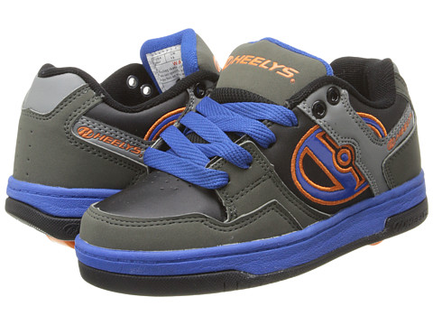 Heelys - Flow (Little Kid/Big Kid/Men's) (Grey/Royal/Orange) Boys Shoes
