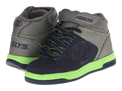 Heelys - Fly 2.0 (Little Kid/Big Kid/Men's) (Navy/Lime/Grey) Boys Shoes
