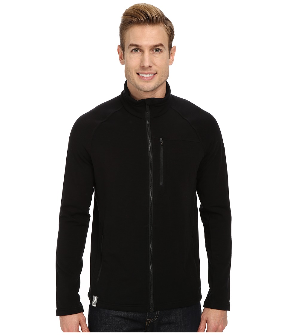 Icebreaker - Sierra Long Sleeve Zip (Black/Black) Men's Sweatshirt