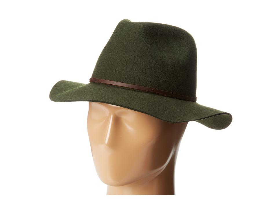 Brixton - Wesley Fedora (Moss) Traditional Hats