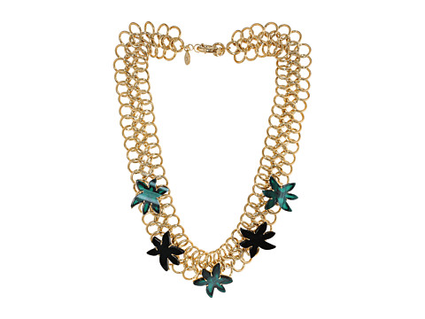 Marc by Marc Jacobs - Read My Palmz Palm Choker (Malachite Multi) Necklace