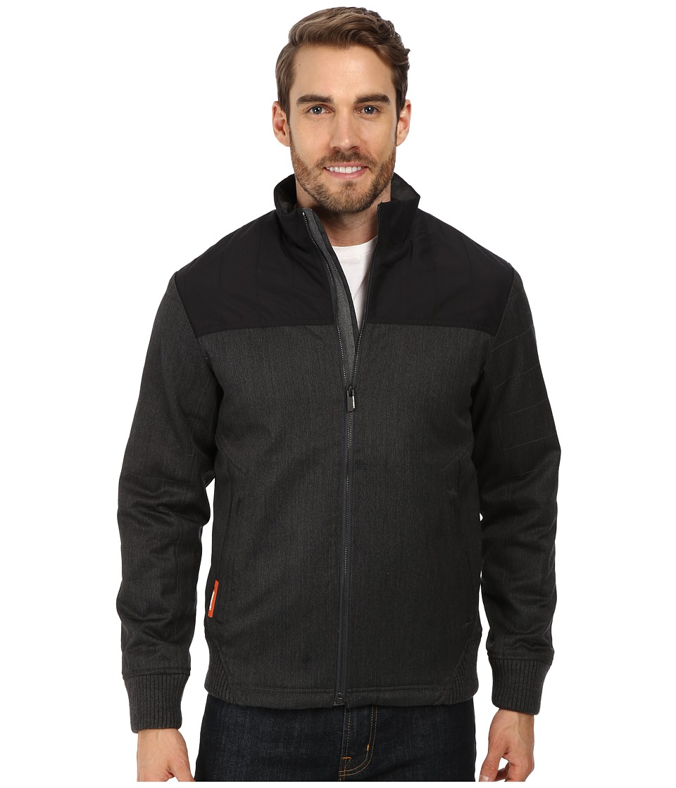 Icebreaker - Ranger Bomber Jacket (Jet Heather/Black/Black) Men's Coat
