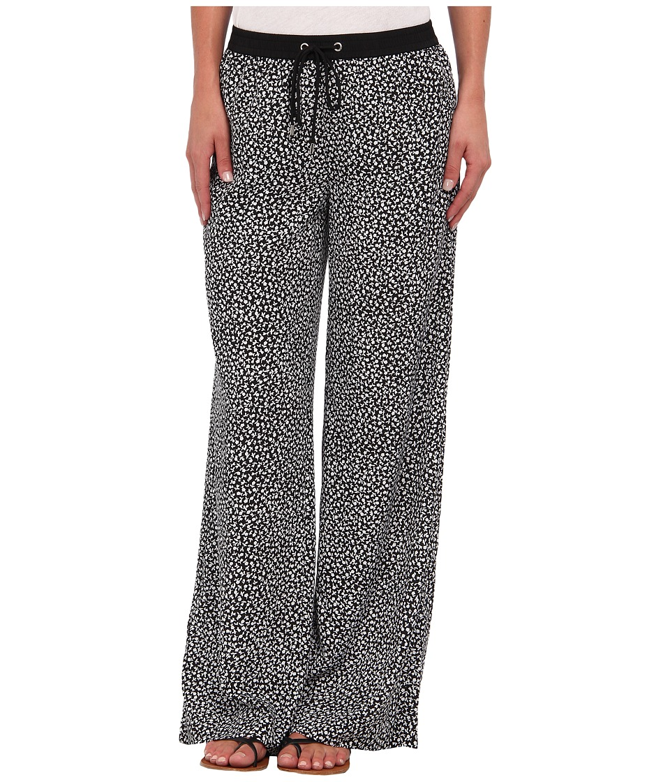 MICHAEL Michael Kors - Easy Wide Leg Printed Pant (Black) Women's Casual Pants