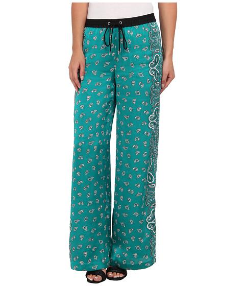 MICHAEL Michael Kors - Bandana Print Wide Leg Pant (Island Blue) Women's Casual Pants