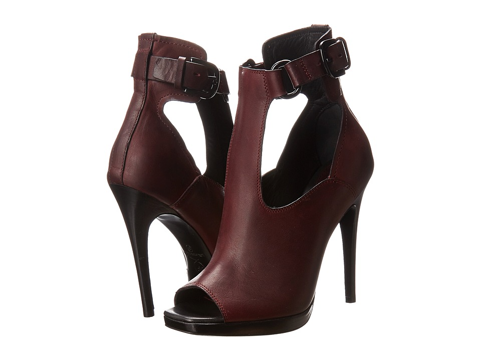 McQ - Lara Buckle Sandal (Blood Red) High Heels