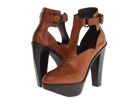 McQ - Fiona Buckle Bootie (Tan) High Heels