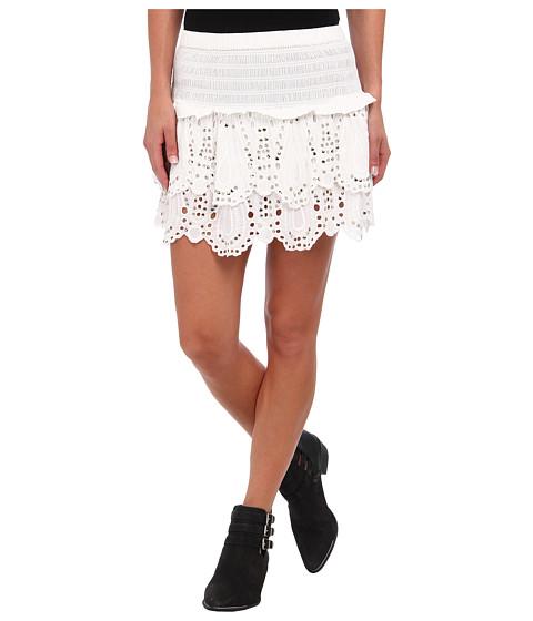 MICHAEL Michael Kors - Tiered Eyelet Mini Skirt (White) Women