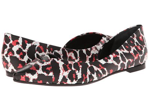 McQ - Ada Ballerina (Pixel Leopard/White) Women's Flat Shoes