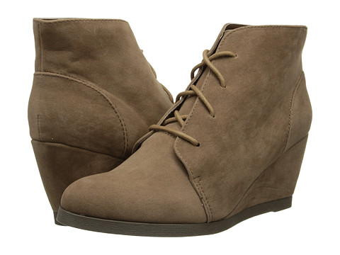 Madden Girl - Domain (Taupe Micro) Women's Wedge Shoes