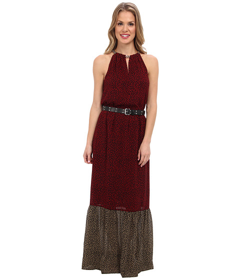 MICHAEL Michael Kors - Meadow Maxi Chain Dress (Red Currant/Black) Women