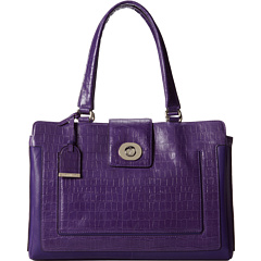 SALE! $179.99 - Save $218 on Cole Haan Lafayette Croc Print Tote (Purple Reign Croc Print) Bags and Luggage - 54.78% OFF $398.00
