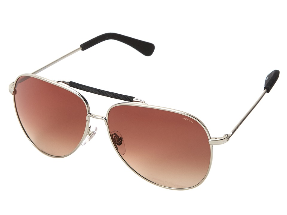 Jack Spade - Hopkins/P/S (Satin Silver/Brown Gradient Polarized) Fashion Sunglasses