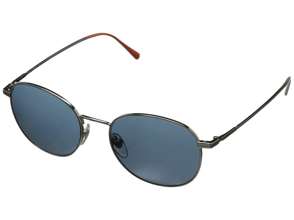Jack Spade - Franklin/S (Shiny Silver/Light Blue) Fashion Sunglasses