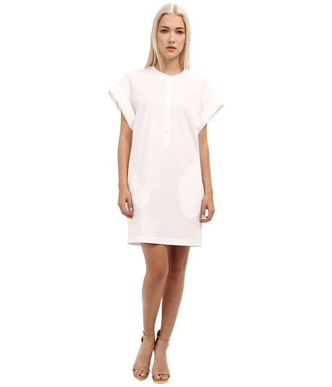 Theory - Cuffed Shift Dress (White) Women