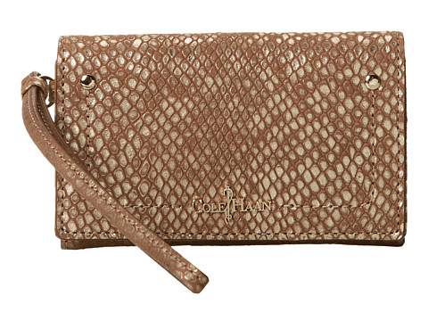 Cole Haan - Parker Exotic Tech Snap Wallet (Camello Snake Print Box) Wallet Handbags
