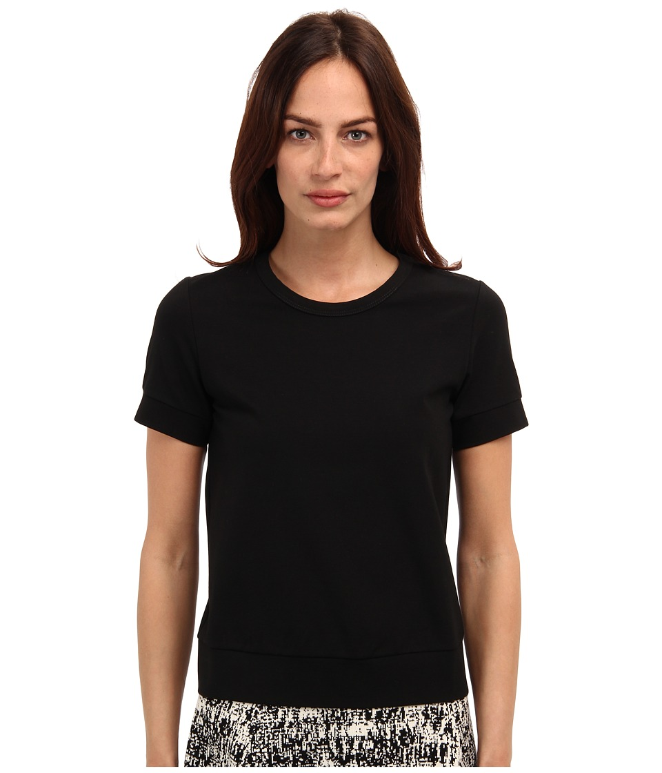 Theory - Tilma B Top (Black) Women's Short Sleeve Pullover