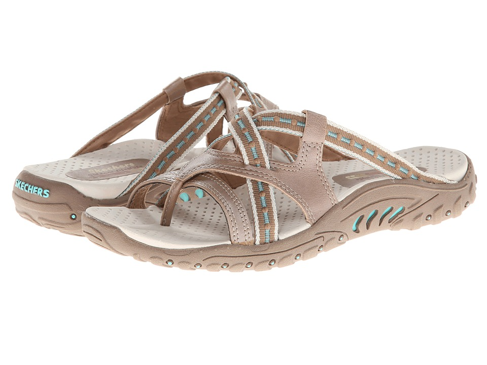 SKECHERS - Reggae - Soundstage (Taupe) Women's Shoes
