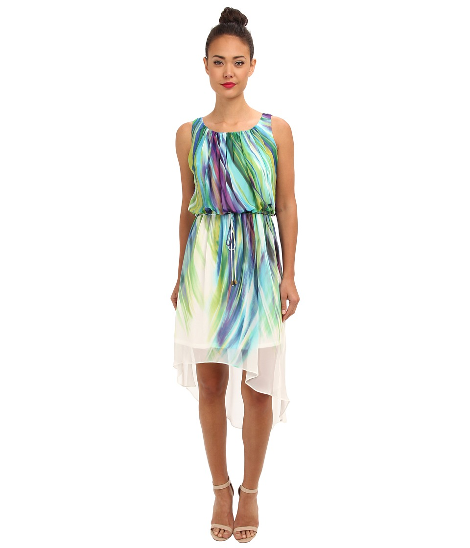rsvp - Briana Dress (White/Green Multi) Women