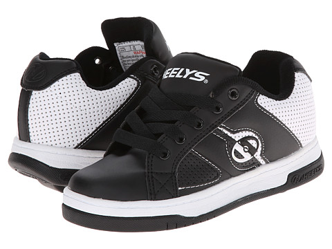 Heelys - Split (Little Kid/Big Kid/Men's) (Black/White) Boys Shoes