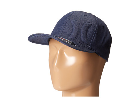 Hurley - Bump 4.0 Flexfit Permacurve Hat (Midnight Navy) Caps