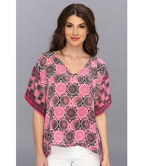 Tolani - Brianna Top (Pink Circles) Women's Clothing