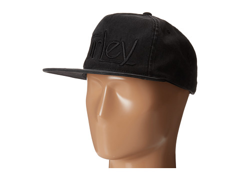 Hurley - Original Wash Snapback Hat (Black) Caps