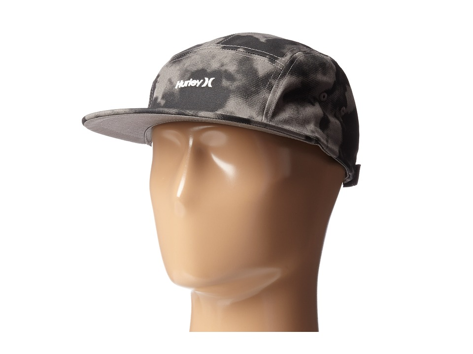 Hurley - Solar Tonal Camper 5 Panel Hat (Black) Baseball Caps